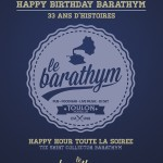HAPPY BIRTHDAY BARATHYM 33ANS AFFICHE
